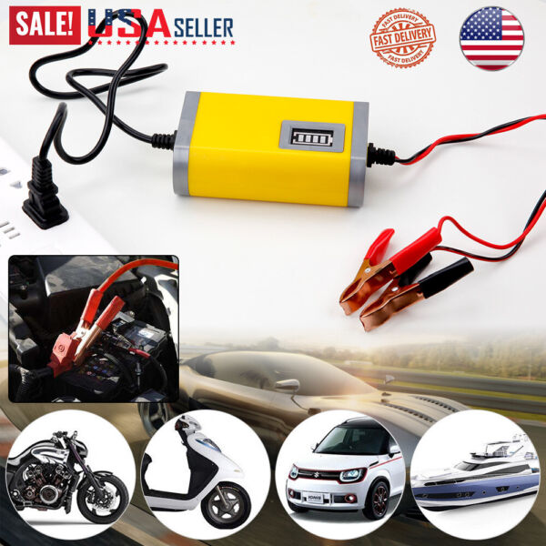 12V 2000mAh Auto Car Battery Charger Tender Trickle Maintainer Boat Motorcycle $12.98