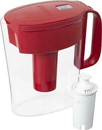 Brita Standard Metro Water Filter Pitcher Small 5 Cup 1 Count Red