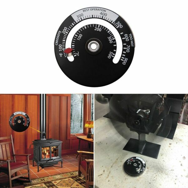 Magnetic Wood Stove Thermometer Fireplace Fan Stove Thermometer with Probe $14.27
