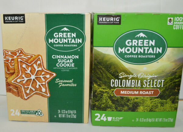 24 Green Mountain KEURIG Flavored Coffees K CUP Pods Various flavors available.