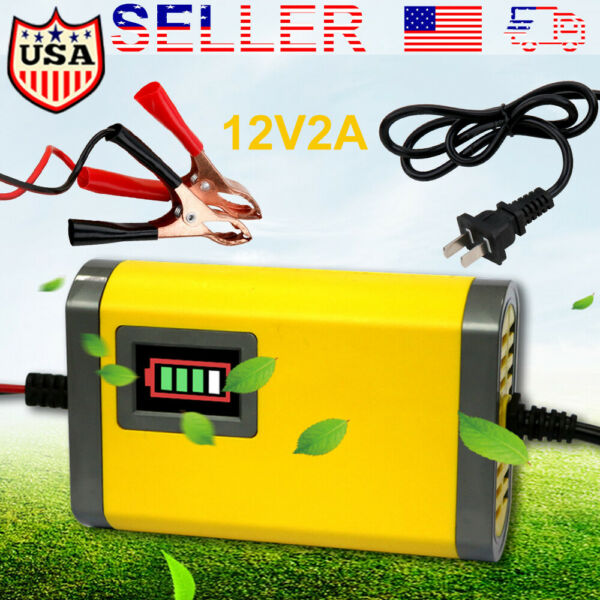 NEW 12V 2A Auto Car Battery Charger Tender Trickle Maintainer Boat Motorcycle US $10.79