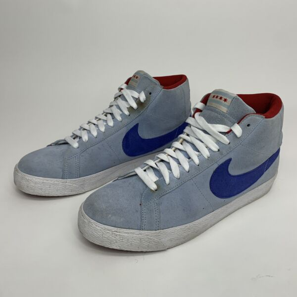 RARE Nike SB Blazer Ice Shoes Sneakers Blue Red 310801 441 Mens Size 10 $58.00