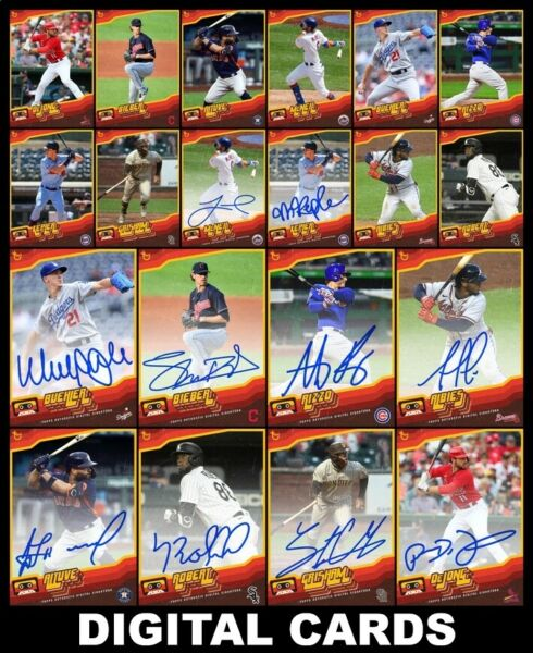 Topps BUNT OLD SCHOOL 2020 Series 2 20 CARD SIGNATURE BASE SETS