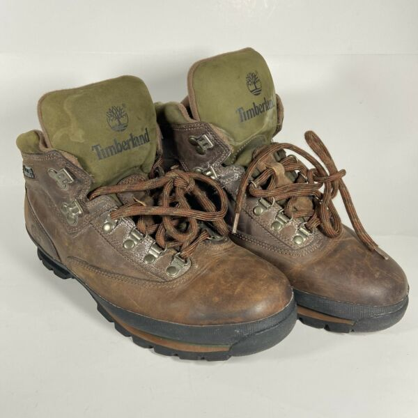 Timberland Hiking Boots Size 10 Leather Upper Stock No. 95100 $35.99