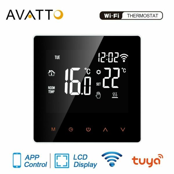 WiFi Smart Thermostat Electric Floor Heating Water Gas Boiler Controller Voice $46.66