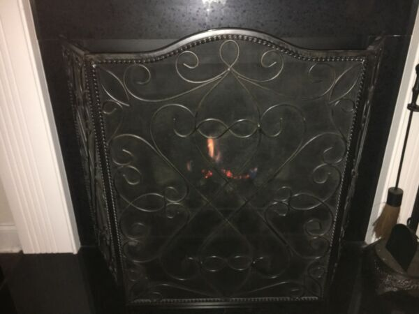 Southern Living At Home Wellsley Estate Iron FIREPLACE SCREEN #40496