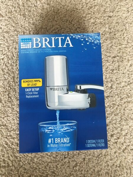 Brita Faucet Mount System Chrome New In Box