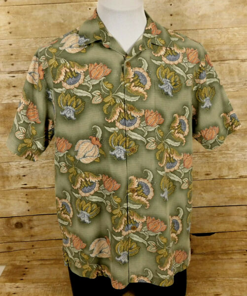 Tommy Bahama Hawaiian Shirt Mens Small Short Sleeve Silk Floral $19.99