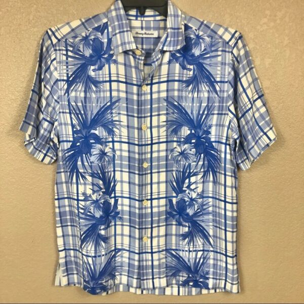 New $135 Tommy Bahama Men#x27;s Lattice Bay Casual Button Down Shirt Small NWT $25.65