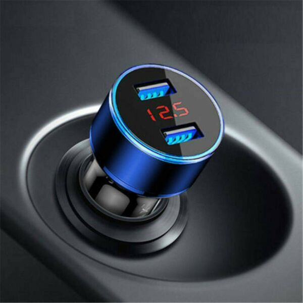 Dual Ports 3.1A USB Car Cigarette Charger Lighter Digital LED Voltmeter 12V 24V $5.49