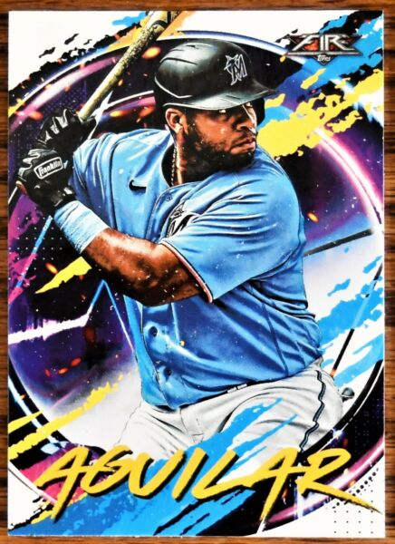2020 Topps Fire #30 Jesus Aguilar Miami Marlins