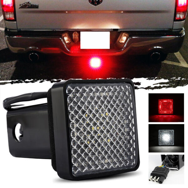 LED Towing Hitch Cover Light Running Brake Reverse for Truck SUV w 2quot; Receiver $18.19