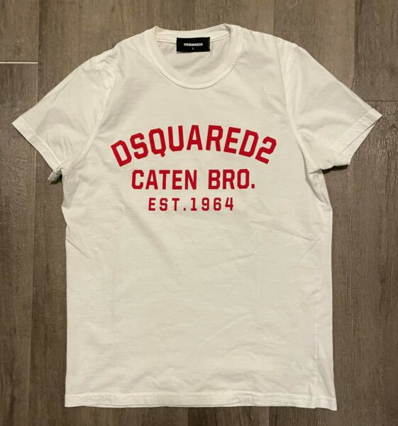 DSQUARED2 MEN#x27;S PRINT T SHIRT SIZE L $59.99
