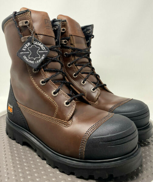 Timberland Work Boots 10W 8quot; Caprock Alloy Toe Zip Up Men#x27;s Safety New NWB Comfy $134.97