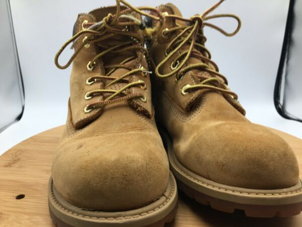 Timberland Boys 6in Premium Work Boot Brown Ankle Lace Up Waterproof Classic 2 M $34.00