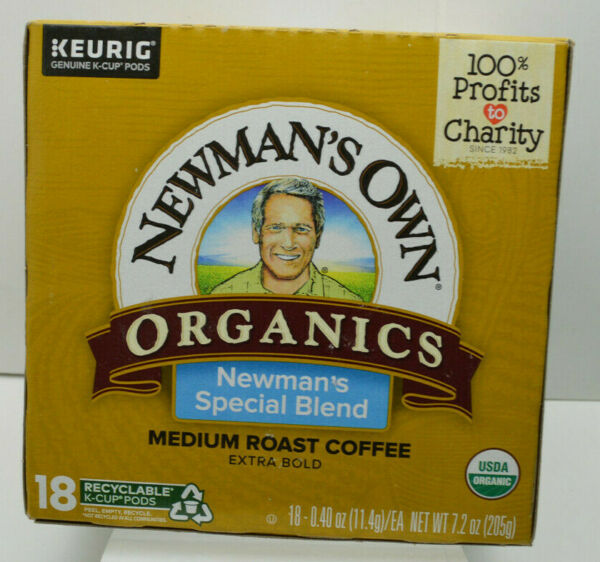 18 KEURIG Flavored Coffees K CUP Pods Newman#x27;s Own Organics Special Blend