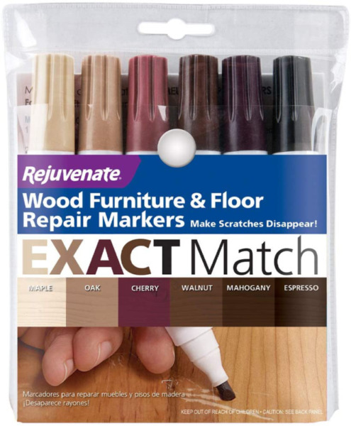 Wood Furniture Floor Repair Markers Scratches Cherry Walnut Mahogany Kit 6 Count $9.08