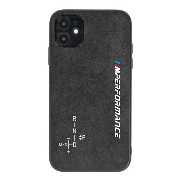 M Sport Performance BMW Alcantara leather phone case for iPhone 11 12