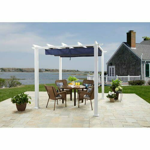 Outdoor Patio Gazebo Pergola 10#x27; x 12#x27; Canopy Party BBQ Garden Steel Porch Yard