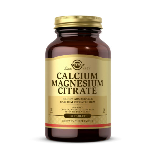 Solgar Calcium Magnesium Citrate 100 Tablets FREE Shipping Made in USA FRESH $12.57