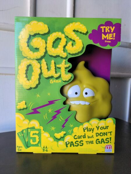 Mattel Gas Out Game Green BRAND NEW Play Your Cards But Don't Pass The Gas $6.00
