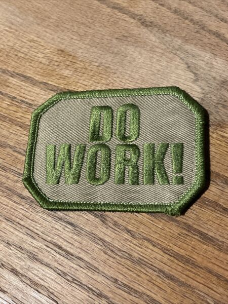 """Do Work morale patch US Army Airsoft 3"""" hook loop desert camo unused vtg rare $9.80"""