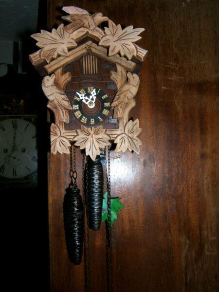 Antique Black forest cuckoo clock 1950s from Regula Triberg Germany