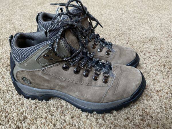 TIMBERLAND Hiking Boots 8M Womens Brown Waterproof Leather Boot EUC $30.00