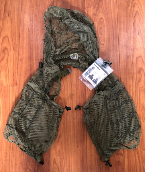 Tactical Concealment Super Viper Ghillie Suit SV 2 Hood OD NWT