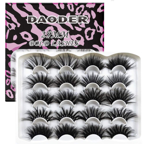 DAODER 25mm Lashes Pack Faux Mink Strip Eyelashes Bulk Variety Mixed Dramatic Lo $18.53