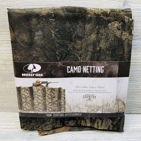 New Mossy Oak Camo Netting 12ft x 56in Hunting Accessories Conceals Treestand
