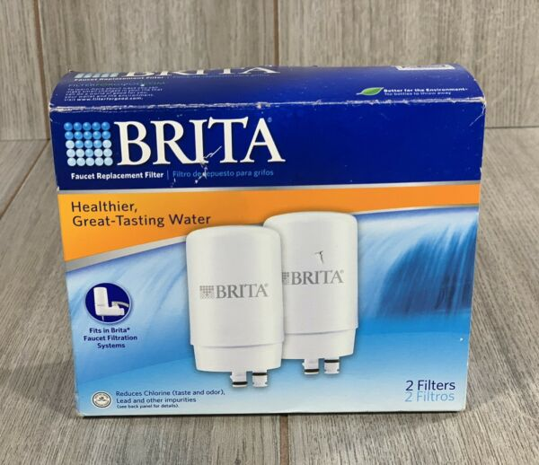 Brita Replacement Water Filter Cartridge 2 Pack FR 200 White New Open Box