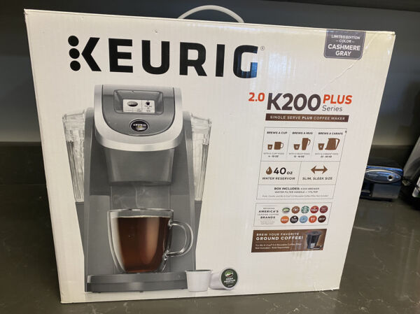 Keurig HOT 2.0 K200 Plus Series Single Serve Coffee Maker. Open box. New