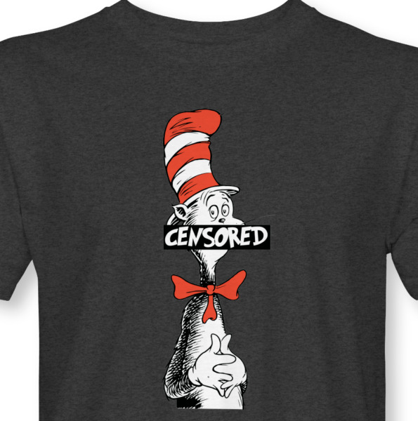 Dr. Seuss T Shirt CENSORED Cat In The Hat