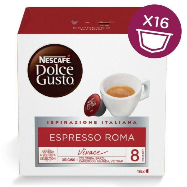 NESCAFE Dolce Gusto ESPRESSO Roma from Italy 16 capsules FREE Shipping