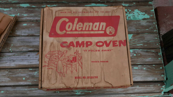 NOS Vintage Coleman stove top oven in original box