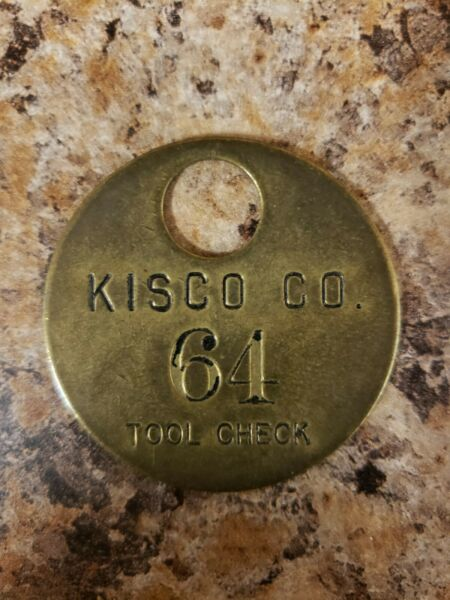 Kisco Boiler amp; Engineering Company Tool Check Tag from St. Louis Missouri $25.00