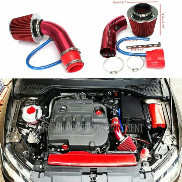 Cold Air Intake Filter Induction Kit Pipe Power Flow Hose System Car Accessories $40.99