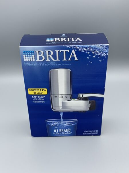 Brita Basic Faucet Mount Water Filtration System Chrome