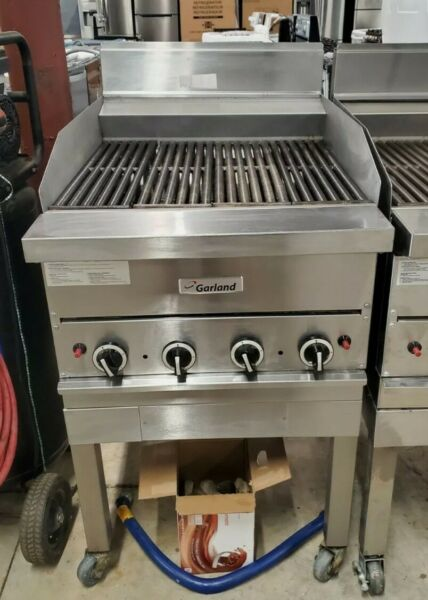 Garland G324 BRL Natural Gas 24quot; Ceramic Briquette Charbroiler amp; Stand