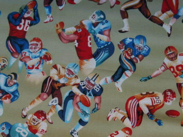 America fabric Football Player By Hancock Fabric43quot; x 47quot; no:45