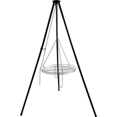 30quot; Black Steel Collapsible Legs Tripod Cooking Grate Outdoor Camping Fire Grill