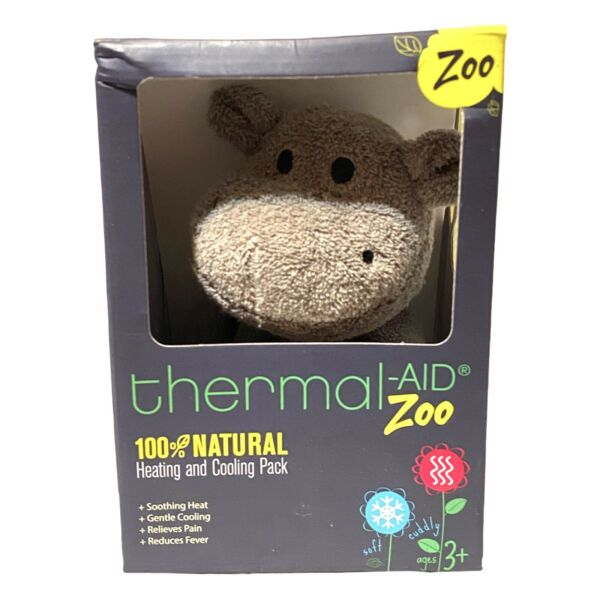 Thermal Aid Zoo Hippo 100% Natural Heating amp; Cooling Pack Stuffed Plush $18.00