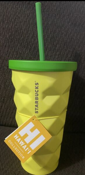 Starbucks Hawaii Pineapple Tumbler Grande Metal 16 oz. Brand New