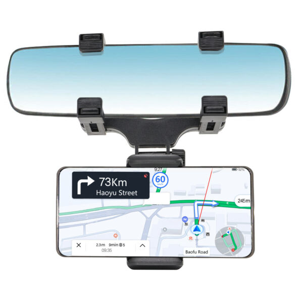 Universal New Car Rear view Mirror Mount Stand Holder Cradle For Cell Phone $8.39