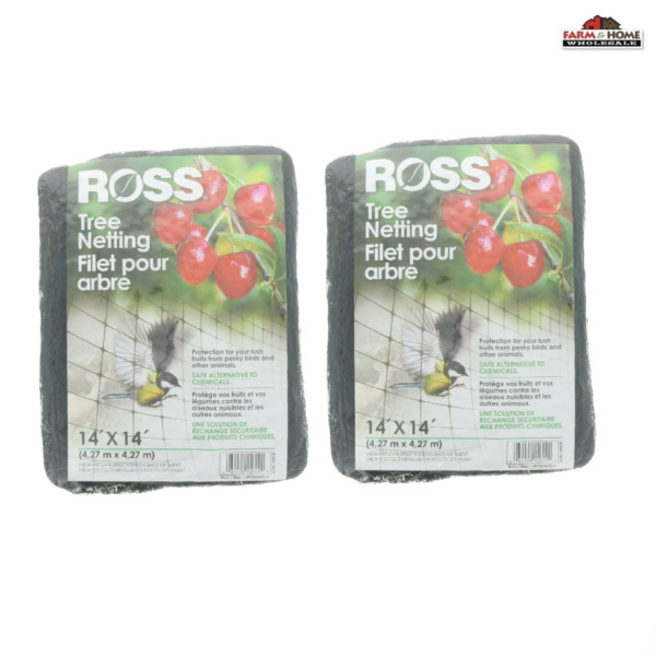 2 Ross Tree Netting 14#x27; X 14#x27; Protect Fruit from Birds Animals NEW