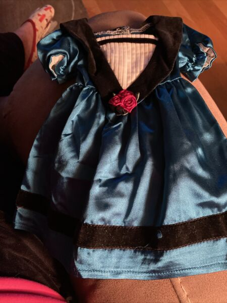 NEW American Girl Doll Cecile Meet Outfit Blue Satin Dress