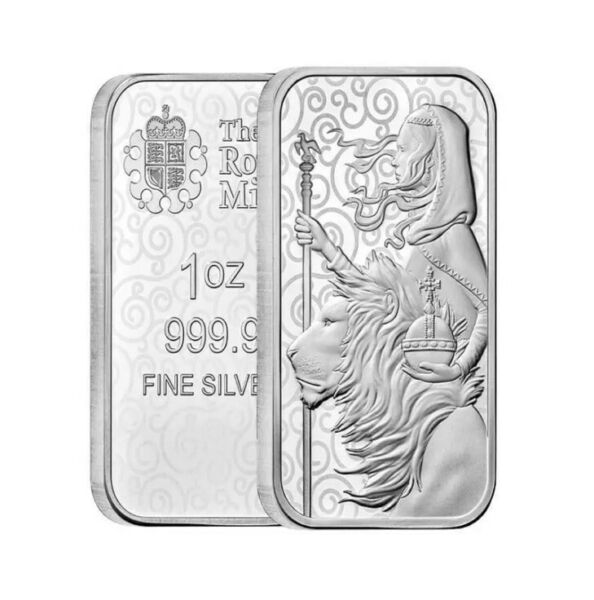 1oz Great Britain The Great Engravers Collection Una and The Lion Silver Bar $46.39