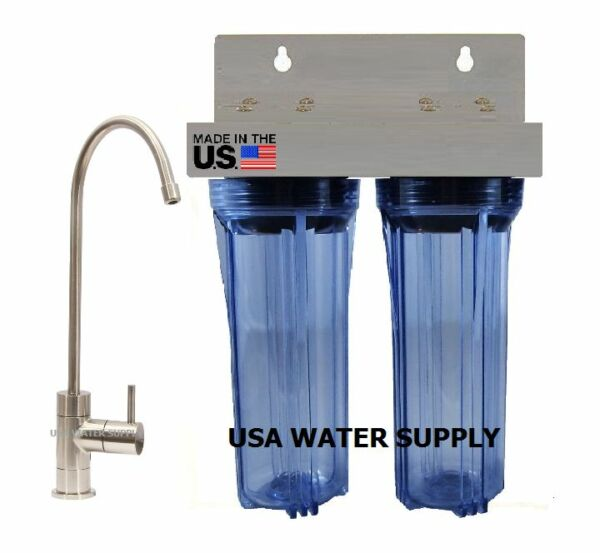 2 STAGE UNDER SINK DRINKING WATER FILTER SYSTEM SEDIMENT amp; CARBON