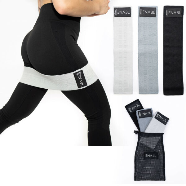 Fabric Hip Resistance Bands 3 PCS Bundle Heavy Duty Fitness Booty Loop Exercise $12.99